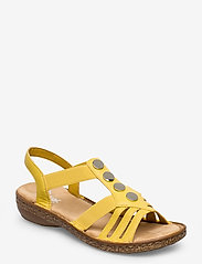 Rieker - 62831-00 - flat sandals - yellow - 0