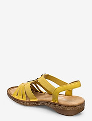 Rieker - 62831-00 - flat sandals - yellow - 2