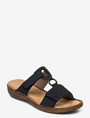 Rieker - 62885-14 - flat sandals - blue - 0
