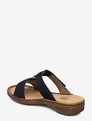 Rieker - 62885-14 - flat sandals - blue - 2