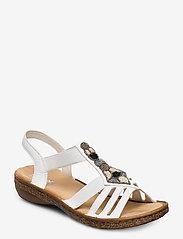 Rieker - 628G5-80 - flat sandals - weiss - 0