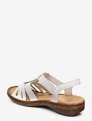 Rieker - 628G5-80 - flat sandals - weiss - 2