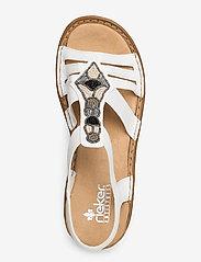 Rieker - 628G5-80 - flat sandals - weiss - 3
