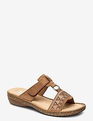 Rieker - 628M0-22 - flat sandals - brown - 0
