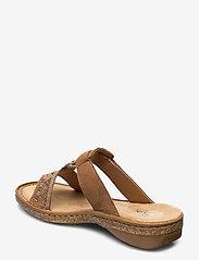 Rieker - 628M0-22 - flat sandals - brown - 2