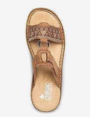 Rieker - 628M0-22 - flat sandals - brown - 3