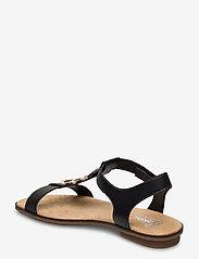 Rieker - 64278-00 - flat sandals - black combination - 2