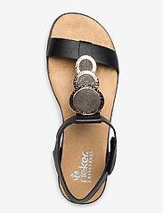 Rieker - 64278-00 - flat sandals - black combination - 3