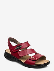 Rieker - 64573-00 - flat sandals - red - 0