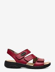Rieker - 64573-00 - flat sandals - red - 1