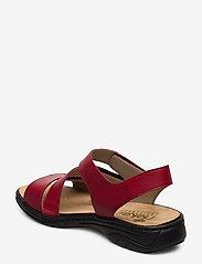 Rieker - 64573-00 - flat sandals - red - 2