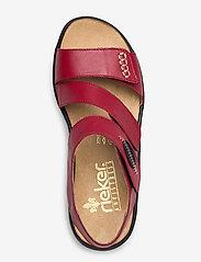 Rieker - 64573-00 - flat sandals - red - 3