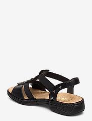 Rieker - 64580-00 - flat sandals - black - 2