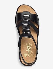Rieker - 64580-00 - flat sandals - black - 3