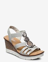 Rieker - 65540-40 - heeled sandals - grey - 0