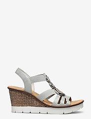 Rieker - 65540-40 - heeled sandals - grey - 1