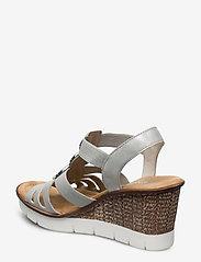 Rieker - 65540-40 - heeled sandals - grey - 2