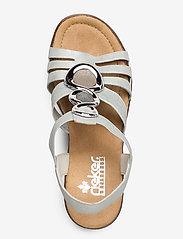 Rieker - 65540-40 - heeled sandals - grey - 3