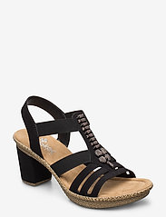 Rieker - 66506-00 - heeled sandals - black - 0