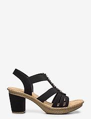 Rieker - 66506-00 - heeled sandals - black - 1