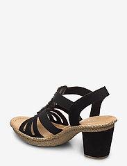 Rieker - 66506-00 - heeled sandals - black - 2
