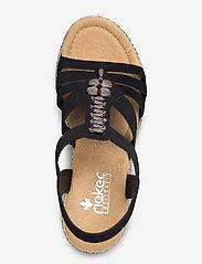 Rieker - 66506-00 - heeled sandals - black - 3