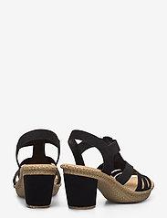 Rieker - 66506-00 - heeled sandals - black - 4