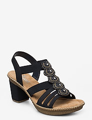 Rieker - 665G8-14 - heeled sandals - blue - 0
