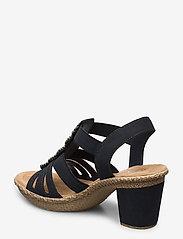 Rieker - 665G8-14 - heeled sandals - blue - 2