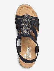 Rieker - 665G8-14 - heeled sandals - blue - 3