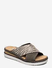 Rieker - 67994-54 - flat sandals - green combination - 0