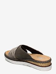 Rieker - 67994-54 - flat sandals - green combination - 2