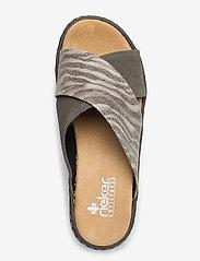 Rieker - 67994-54 - flat sandals - green combination - 3