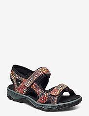 Rieker - 68866-90 - flat sandals - multi - 0