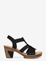Rieker - 69702-00 - heeled sandals - black - 1