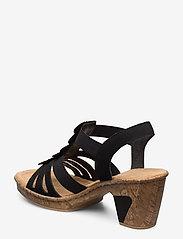 Rieker - 69702-00 - heeled sandals - black - 2