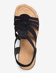 Rieker - 69702-00 - heeled sandals - black - 3