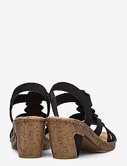 Rieker - 69702-00 - heeled sandals - black - 4