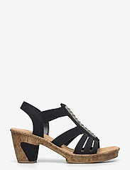 Rieker - 69739-15 - heeled sandals - blue - 1