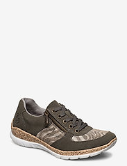 Rieker - N4238-54 - low top sneakers - green combination - 0