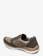 Rieker - N4238-54 - low top sneakers - green combination - 2