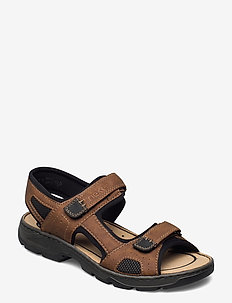 26156-02 - sandały - brown combination