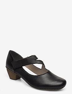 41793-03 - sandały na obcasie - black