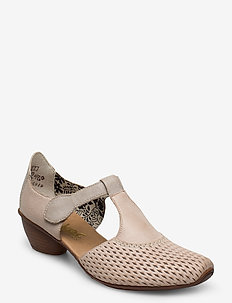 43736-40 - heeled sandals - grey combination