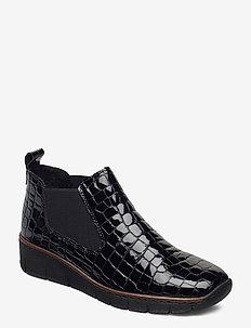 53794-01 - ankelstøvler med hæl - black