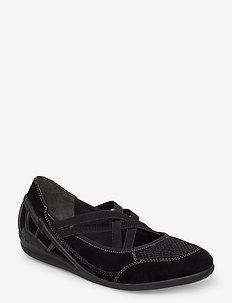 59585-00 - ballerinas - black
