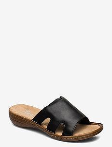 60824-00 - flate sandaler - black