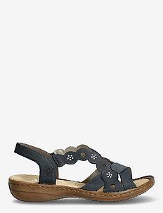 60865-14 - platta sandaler - blue
