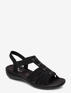 60870-00 - flate sandaler - black
