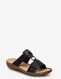60885-00 - flat sandals - black